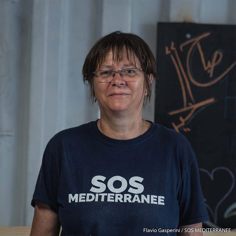 Anne, Medico di bordo: (copyright Flavio Gasperini – SOS MEDITERRANEE)