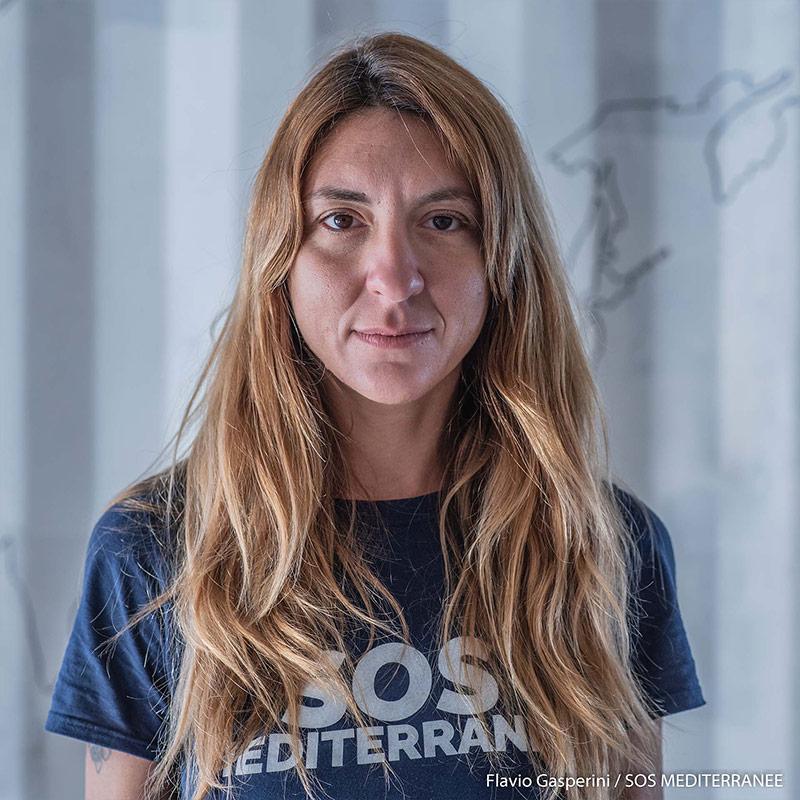 Viviana, Soccorritrice: (copyright Flavio Gasperini – SOS MEDITERRANEE)