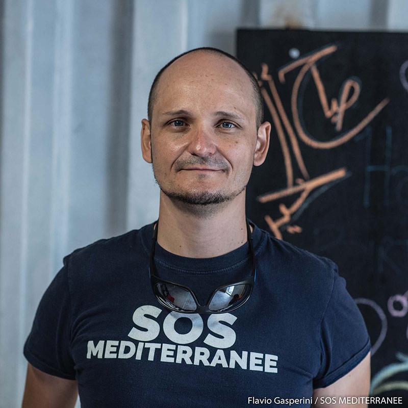 Alessandro, Soccorritore e Presidente di SOS MEDITERRANEE Italia: (copyright Flavio Gasperini – SOS MEDITERRANEE)